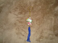 Korea Souvenir Collectible Keychain with Blue tassel FONS Girl with Fans