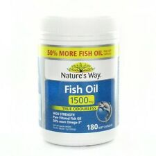 Natures Way Fish Oil True Odourless 1500mg 180 caps