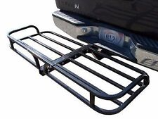 Steel Cargo Carrier Luggage Basket Receiver Hitch Mount Hauler Car SUV Truck