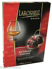 Laroshell CHERRY & BRANDY Liqueur-Filled German Fine Dark Chocolate Gift Box Set