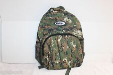 OD Green Digital Camo Backpack ESKY Brand 4 Pocket Military School Bag Style
