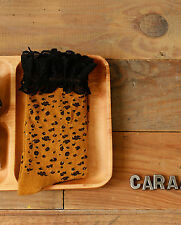 Lady Women Girl Leopard dots print Brown Fashion Cotton frilly warm Short Socks
