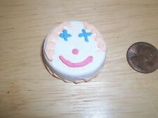 Re Ment Barbie size Smiley Face Cake Doll House Diarama Sweet Shop OOAK