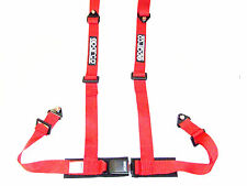 "Sparco Racing Street 4 Point Bolt-In 2"" Seat Belt Harness (Red)"