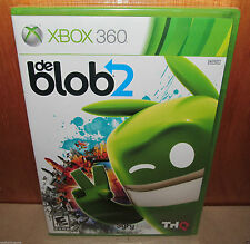 BRAND NEW SEALED de Blob 2 XBOX 360 Microsoft THQ