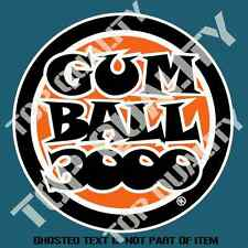 GUM BALL 3000 DECAL STICKER RETRO OLD SCHOOL MOTORSPORT RACING DECALS STICKERS