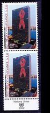 UN MNH Vertica Pair, Aids, Awareness, Medicine, Disease -Me42
