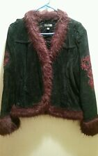 Wilson's Leather Suede and faux fur Jacket size XL