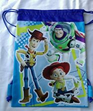 Blue Toy Story 3 Drawstring Backpack Sling Tote Bag New Disney Pixar Bday Gift