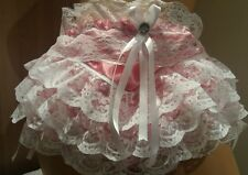 Raspberry Double Layer Satin Frou Frou Ultra Frilly Rumba Panties Sissy CD TV