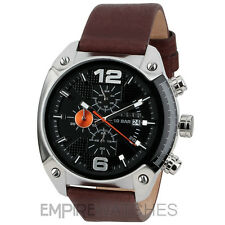 *NEW* DIESEL MENS OVERFLOW CHRONOGRAPH BROWN WATCH - DZ4204 - RRP £145.00