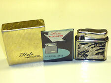 IBELO MONOPOL AUTOMATIC LIGHTER WITH STERLING SILVER ENAMEL CASE - 1952- GERMANY