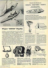 1953 ADVERT Klepper Aerius Flagship Sail Boat Foldboat Canoe Sailboat