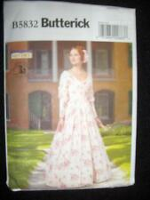 New Butterick Pattern 5832 A5 Civil War Dress Sizes 6-14