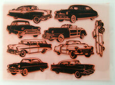 "Clear Stamps Sheet 7""x10"" ~ Classic Cars Collection FLONZ Vintage Rubber 403-033"