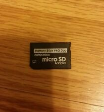 NUOVA SD SDHC TF a Memory Stick MS Pro Duo adattatore Convertitore Video Card Reader