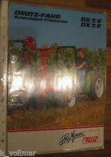 ✪✪✪Agrar/Landwirtschaft Prospekt/Info Deutz-Fahr DX3F  DX3V Schmalspurtraktoren