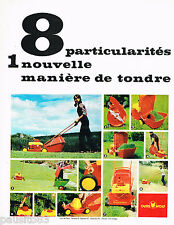 PUBLICITE ADVERTISING 065  1967  OUTILS WOLF    tondeuse