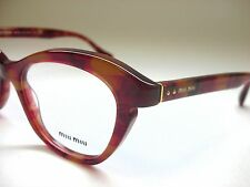 100% AUTHENTIC MIU MIU MU07LV GAT-1O1 RED HAVANA WOMEN'S 51/18/140 EYEGLASSES