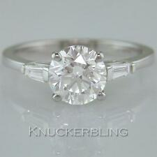 1.40ct Certified D Exc Exc Exc Brilliant Diamond Solitaire 18ct White Gold Ring