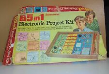 Vintage Science Fair 65 in 1 Electronic Project Kit Steampunk Parts