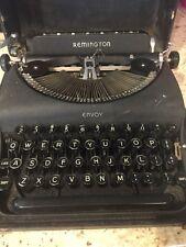 Vintage Remington Envoy Typewriter type 2 with Carrying Case 1941/1942 WWII era