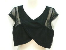 """BLACK CROSS FRONT MESH TOP SUPRE, L,  12 to 14 AUZ  """"NWT"""" RRP $20"""