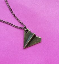 Cute funky quirky paper aeroplane game origami jewellery necklace gift bag