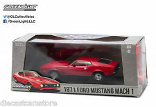 GREENLIGHT 1971 FORD MUSTANG MACH 1 RED 1/43 DIECAST CAR 86304