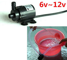 DC 6V~12V Mini Brushless Submersible Water Pump for fish tank Fountain Aquarium