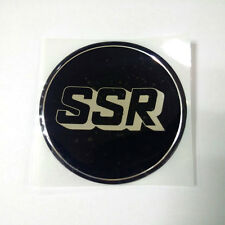 Sticker SSR Wheel Hub Emblem 60mm 1p For Universal Car fit