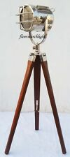 NAUTICAL COLLECTABLE CHROME SPOT LIGHT SEARCHLIGHT STUDIO TRIPOD FLOOR LAMP