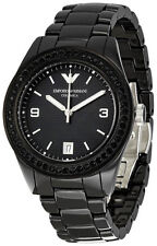 Emporio Armani AR1423 Black Dial Black Ceramic Bracelet Women's Watch