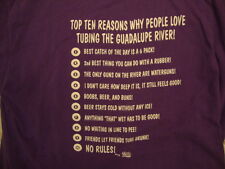 Ten Reasons Why People Love Tubing the Guadalupe River Funny Purple T Shirt XL