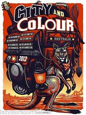 City And Colour Australia 2012 Tour Poster Print Munk One Alexisonfire