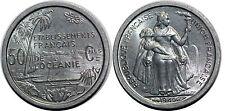 POLYNESIE FRANCAISE  50 CENTIMES 1949 Unc !!! SPL