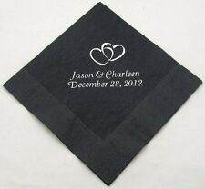 200 Personalized Beverage Napkins custom printed baby shower Wedding favors