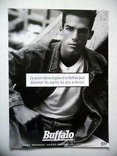 PUBLICITE-ADVERTISING :  BUFFALO  (1)  1990 Jeans,Mode
