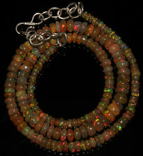 """51 Crts 1 Strands 3 to 6 mm 16""""Beads necklace Ethiopian Welo Fire Opal  AA+++983"""