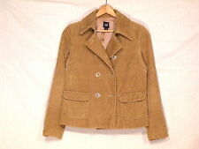 Gap double breasted lined corduroy camel jacket / women's M / nice / b59