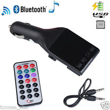 Wireless MP3 Player Auto FM Transmitter Modulator LCD Car Kit USB Charger SD MMC