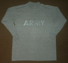Jensen US ARMY PT Physical Fitness Gray SHIRT Size M Medium 38-40 Long Sleeve