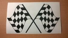 chequered flag rally stock car racing race vinyl graphic sticker window bonnet