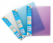 A4 Press 'N' Clamp File Storage Folder for Display and Presentation- Assorted CL