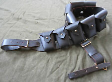 PRE-WWI BRITISH P1903 LEATHER 5 POCKET AMMO BANDOLEER BANDOLIER-LIGHT BROWN