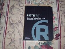 "RadioShack Protect It Universal Tablet Folio Case 2604252 Black 7-8"" Tablets NEW"