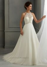 New Beaded White/Ivory bridal Wedding dress Bridal gown Custom 6 8 10 12 14 16 +
