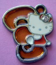 Hello Kitty orange bobtail cat charm Sanrio enamel pendant necklace bracelet