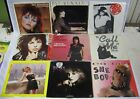 Lot of 9 45 Records Benatar Blondie Joan Jett Stevie Nicks Lauper Picture Sleeve