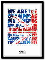 QUEEN - We Are The Champions - song lyric poster typography art print - 4 sizes